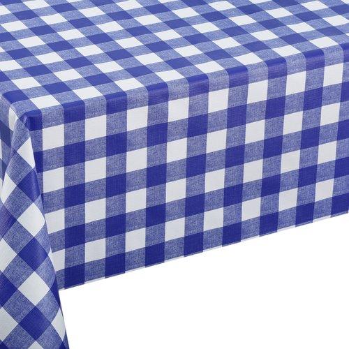 PVC Wachstuch Quadrat blau