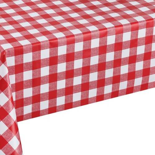 PVC oilcloth Square red