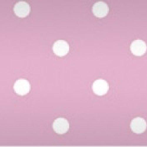 Damastpapier op rol 118 cm x 10 m Stip roze 25 stuks
