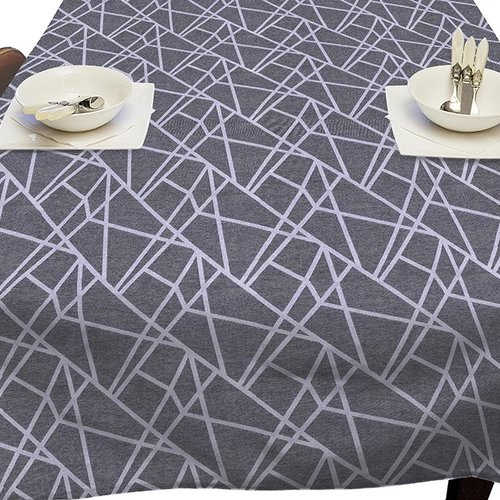 Coated Table textile Lines gray