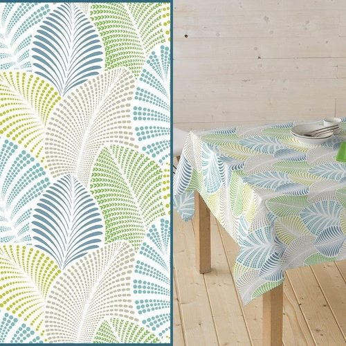 Coated Table Textile Palmette