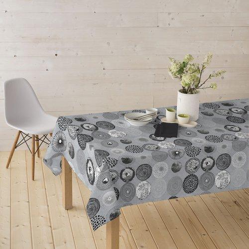 Gecoat tafeltextiel Onoric - grijs