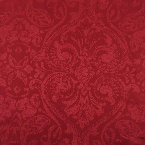 Tafelkleed textiel Napoli rood rond 160 cm