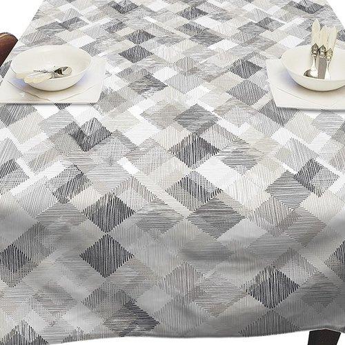 PVC Tablecloth Blockies gray
