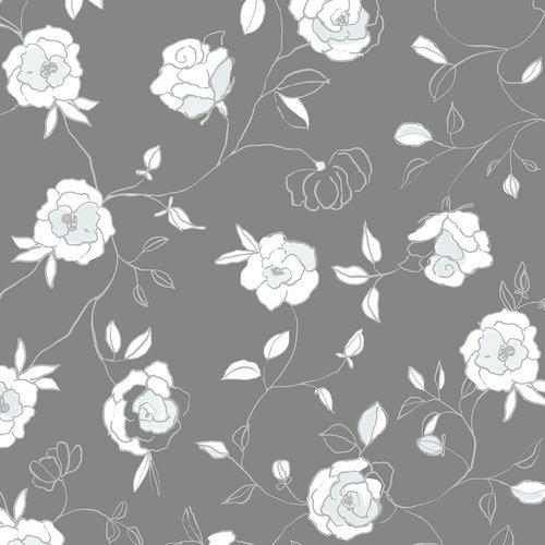 PVC Wachstuch Rosen mintgrün