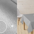 Coated Table textiles Lurex silver