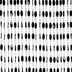 Deurgordijn Charlotte 90x220cm zwart