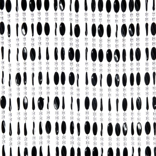 Door curtain Charlotte 90x220cm black