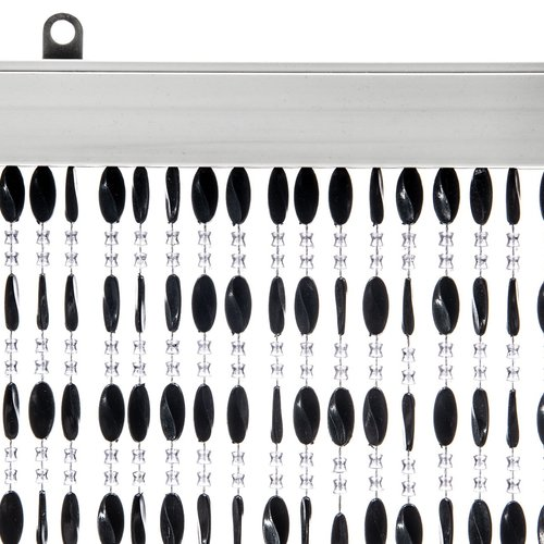 Türvorhang Charlotte 90x220cm schwarz