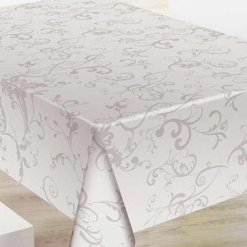 PVC tablecloth Roma taupe