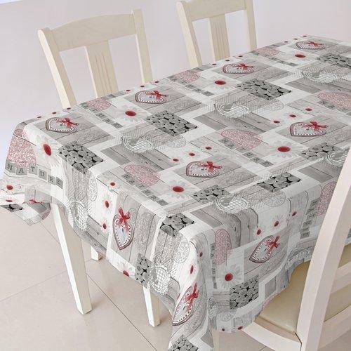PVC oilcloth Ciro rojo