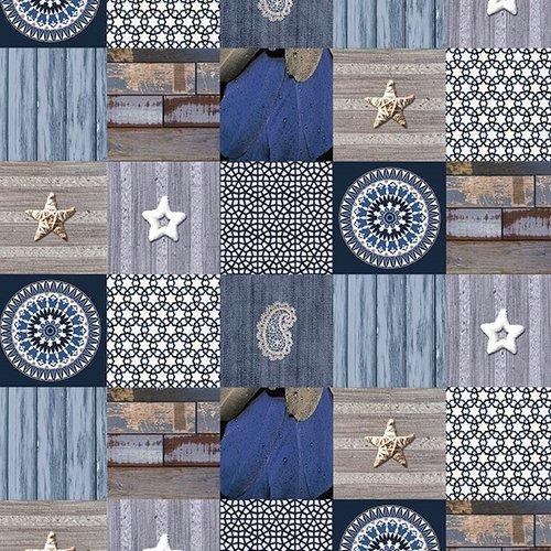 PVC tablecloth Andalouse blue