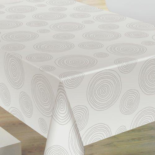 PVC oilcloth Crater blanco