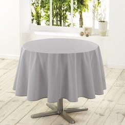 Tafelkleed Essentiel grijs rond 180 cm