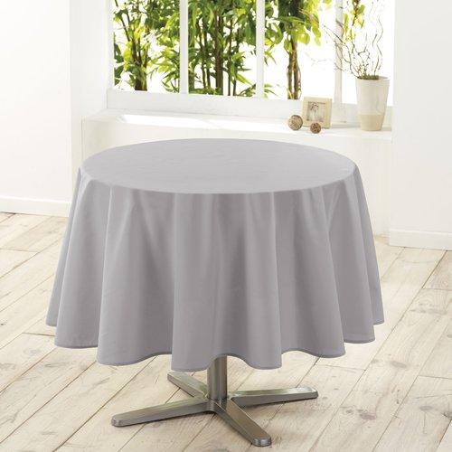 Tafelkleed textiel Essentiel grijs rond 180 cm