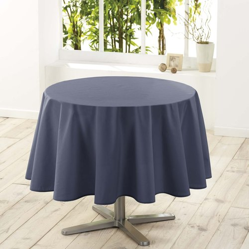 Tafellaken-Tafelkleed- textiel Essentiel beton rond 180 cm