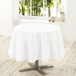 Tafelkleed Essentiel wit rond 180 cm