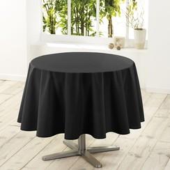 Tafelkleed Essentiel zwart rond 180 cm