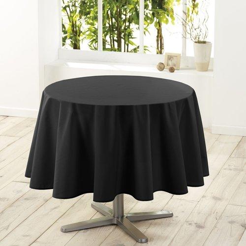 Tafelkleed textiel Essentiel zwart rond 180 cm
