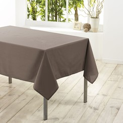 Tafelkleed textiel Essentiel taupe 140cmx250cm