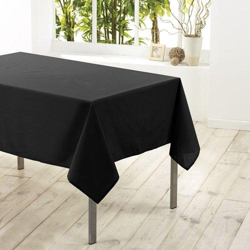 Tafelkleed textiel Essentiel zwart 140x250cm