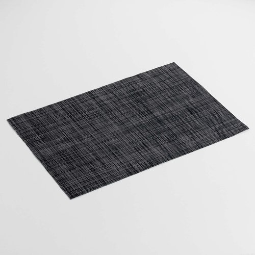 Place mats Punto black packed per 12 pieces