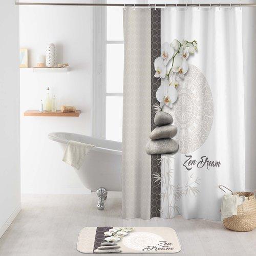Shower curtain textile Orchizen
