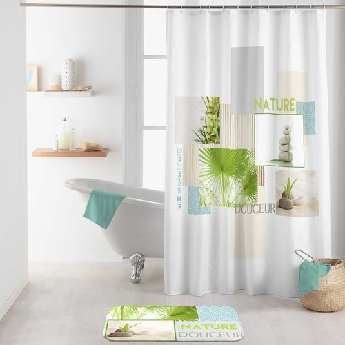 Shower curtain textile Nature