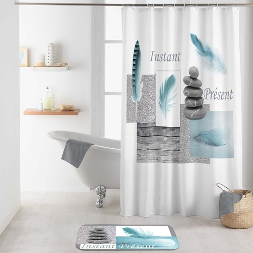 Shower curtain textile  Equilibre