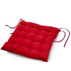 Stoelkussen Essentiel rood 40x40x7cm