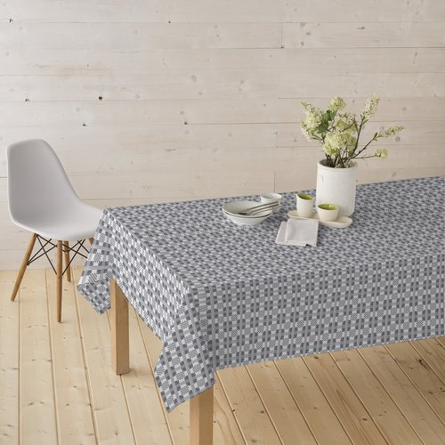 Coated Table textiles Damask gray