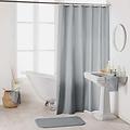 Shower curtain textile uni gray