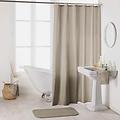Shower curtain textile uni taupe