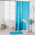 Shower curtain textile uni aqua