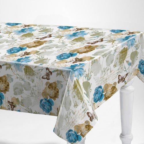 PVC oilcloth Alarba azul