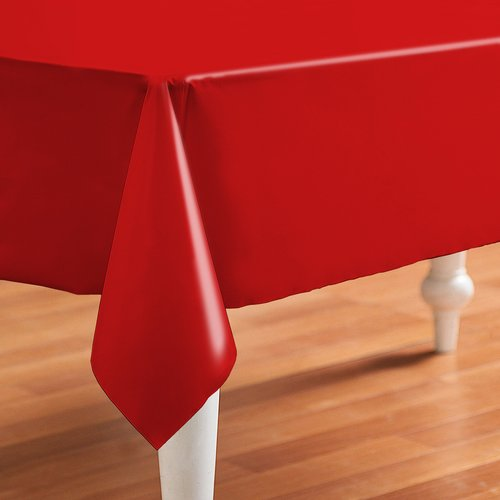 PVC oilcloth Even red