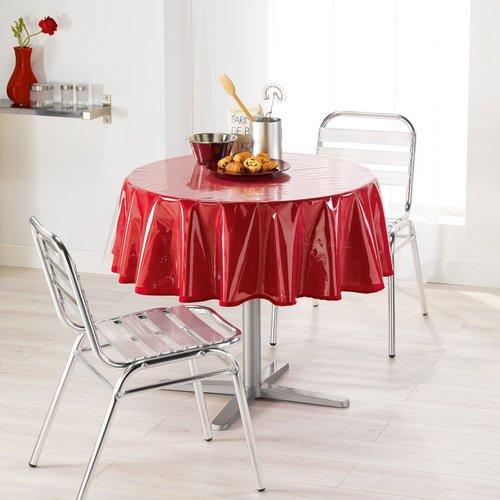 PVC tablecloth Transparent around 180 cm