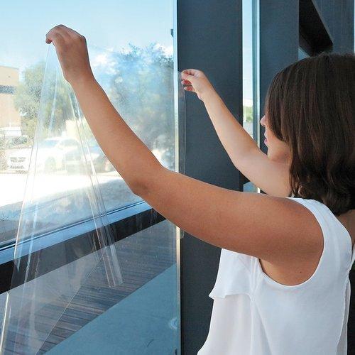 Window film static  CLEAR