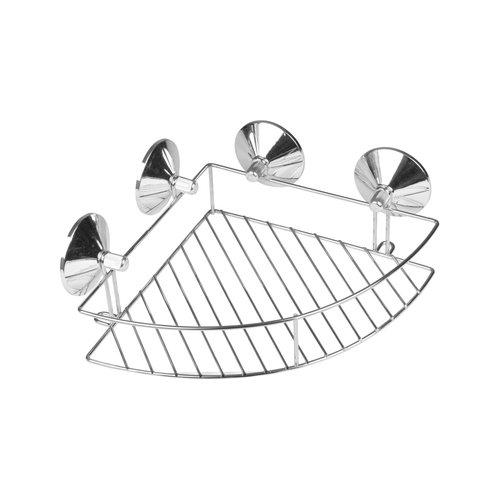 Seifenschale Ecke Modell Metall mit Chrom Saugnapf