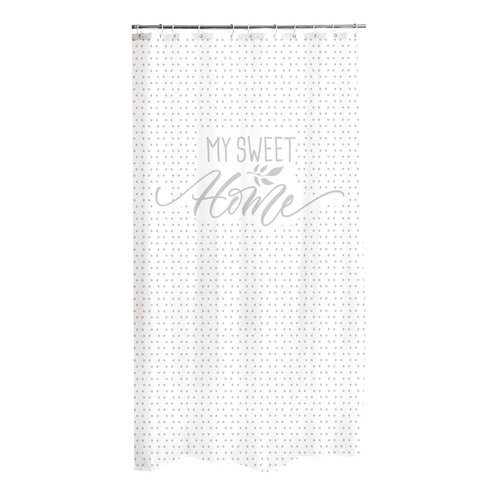 Shower curtain textile Home gray.