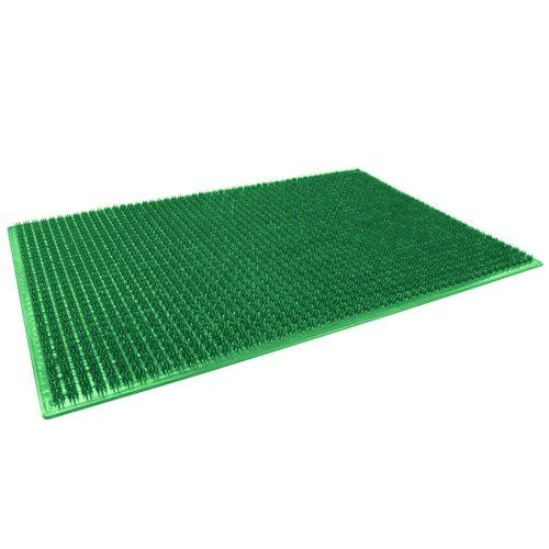 PVC doormat 58.5x38.5cm scraper points green per 6 pieces