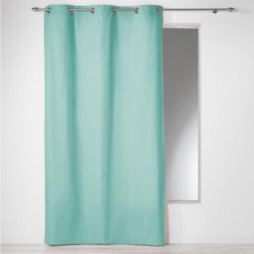 Ready made curtain with rings 140x240cm Panama 100% cotton color mint.