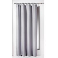 Kant en klaargordijn met ophanglus 140x260cm uni polyester licht grijs