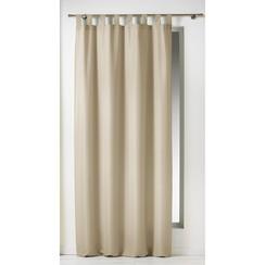 Kant en klaargordijn met ophanglus 140x260cm uni polyester linnen