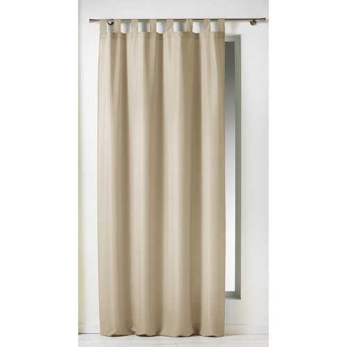 Ready made curtain with hanging loop 140x260cm uni polyester linen