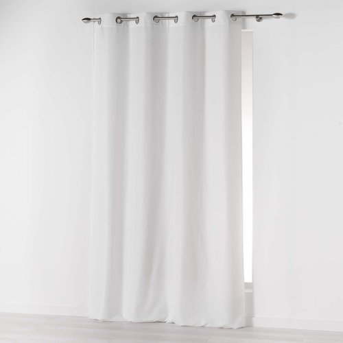 Ready-made curtain with rings 140x260cm microfiber absolu white