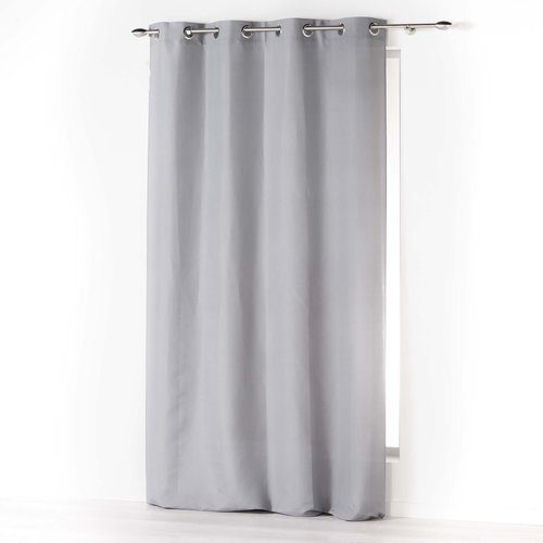 Ready-made curtain with rings 140x260cm microfiber absolu light gray