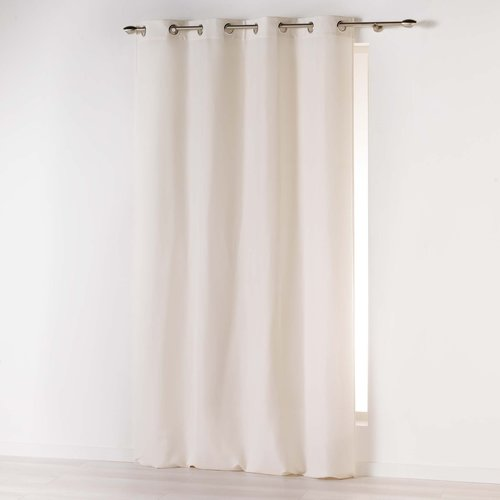Ready-made curtain with rings 140x260cm microfiber absolu natural