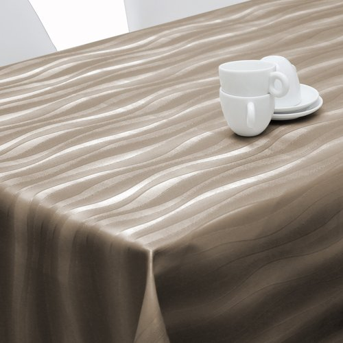 Tischtextil Polylinie Onix taupe