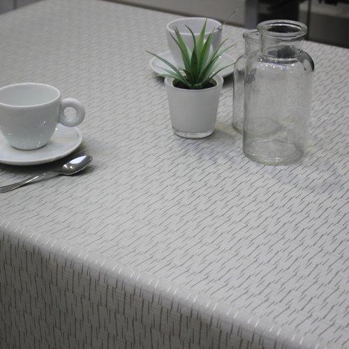 Tischtextil Polylinie Jaspe Silber
